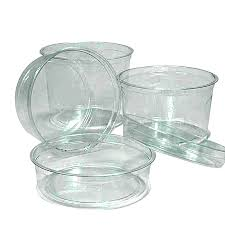 Premium PET Round Food Containers (No Lid) Plastic Containers: Present Your Tastefully