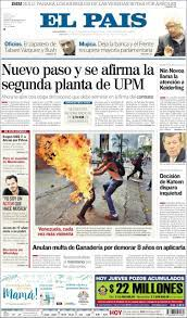 Newspaper El País (Uruguay). Newspapers in Uruguay. Thursday's edition, May  4 of 2017. Kiosko.net