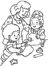 Coloriage Enfant Dans L Ecole