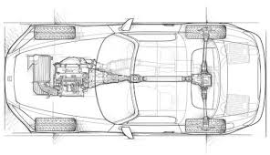 automotive illustration cutaway ghosted phantom view honda s2000 overhead