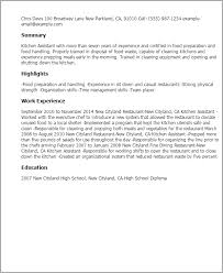 How To Make Resume Template Kitchen Assistant Resume Template Best Design Tips Myperfectresume