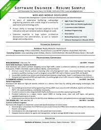 Resume Of Computer Engineer Resume Samples For Software Engineers Dew Drops