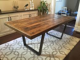 Reclaimed Wood Kitchen Dining Table, Reclaimed Pallet Wood, Trapezoid legs,  Rustic, Steel