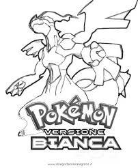 Disegno Pokemonbianco Personaggio Cartone Animato Da Colorare