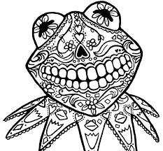 Small Picture Sugar Skull Animal Coloring Pages GetColoringPagescom