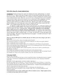 causal analysis essay example co causal analysis essay example