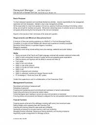 Restaurant Resume Example Shift Manager Job Description Template Lead Photo Resume Examples 47