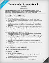 Housekeeping Resume Magnificent Hotel Housekeeping Resume Example 60 Housekeeper Resume Professional