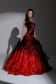Black Red Wedding Dresses