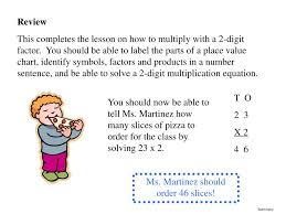 Ppt Multiplying 2 Digit Numbers Maggie Martinez Summer