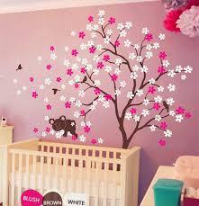 koala lying blooms beneath wall sticker baby bedroom wall art decor d vinyl birds and flowers
