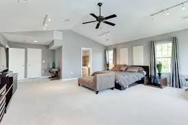bedroom track lighting. track light ceiling fan combo lighting with contemporary master bedroom vaulted quorum estate 52 patio