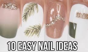 Easy Summer Nail Art Video 10 Easy Nail Ideas Neutral Summer Nail Art