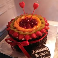 Repost Cake Ultah W Topping Tutyfruity Basecake Red Lathanzacake