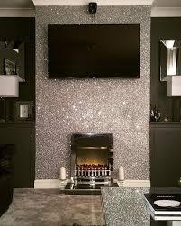 glitter accent wall
