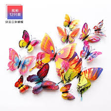 Buy 3d three-dimensional double-layer simulation butterfly <b>creative</b> ...