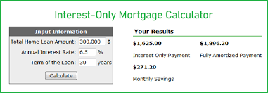 Interest Only Loan Calculation Online Interest Only Mortgage Calculator How To Calculate