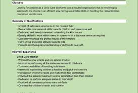 Resume For Childcare Resume Examples For Jobs For Students