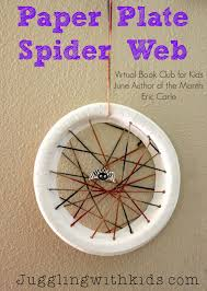 Juggling With Kids: Paper Plate Spider Web: Virtual Book Club for Kids: Eric