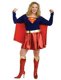Womens Supergirl Costume With Dress And Attached Belt And Cape And Boot  Covers For Superhero Themed