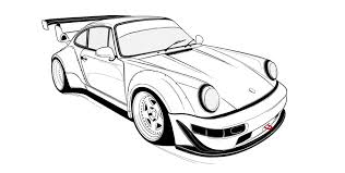 Check out our porsche sketch selection for the very best in unique or custom, handmade pieces from our prints shops. Porsche Outline Page 1 Line 17qq Com