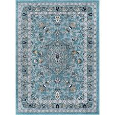 5 x 7 medium aqua gray and navy area rug kensington rc willey furniture