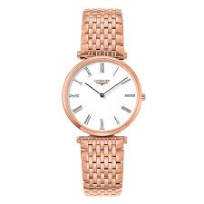 longines men s rose gold plated bracelet watch ernest jones longines men s rose gold plated bracelet watch product number 9290818