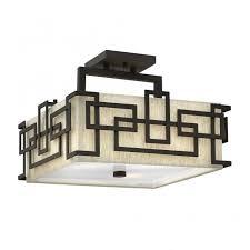 semi flush geometric ceiling light