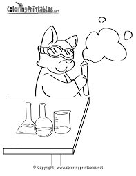 Science Color Sheets Free Chemistry Coloring Page This Free