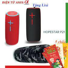 Loa Bluetooth mini HopeStar P21 TWS kết nối cùng lúc 2 loa - chống nước  tiêu chuẩn IPX6, Bh 6 tháng , chính hãng - Loa Bluetooth Nhãn hiệu HOPESTAR