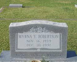 Myrna Yancey Robertson (1939-1991) - Find A Grave Memorial