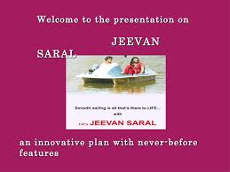 Table No 165 Jeevan Saral