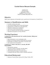 Waitress Sample Resume Uxhandy Com