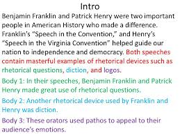 rhetorical devices in essays rhetorical devices in essays gxart  rhetorical devices essay i introduction introducing your topic ii intro benjamin franklin and patrick henry