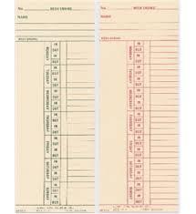 Bi Weekly Time Card Acroprint Bi Weekly Time Cards Acedepot