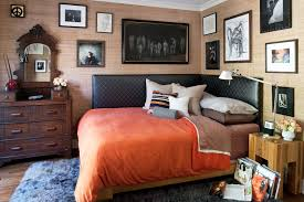los angeles urban home beds with rectangular area rugs bedroom eclectic and bed pillows orange bedding