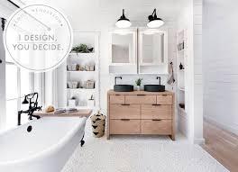 Fixer Upper Shower Designs I Design You Decide Pebble Tile For The Mountain Fixer