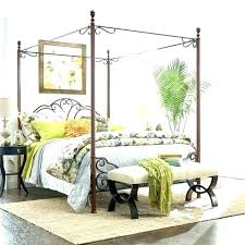 decoration: Black Wood Queen Canopy Bed White Full Medium Size Of ...