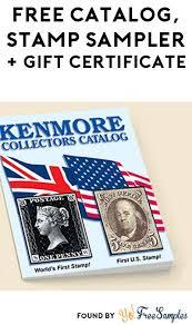 Free Mail Sample Stunning FREE Kenmore Catalog Stamp Sampler 44 Gift Certificate [Verified