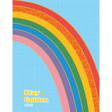 At A Glance Academic Planner 2020 17 Stay Golden 17 Month Personal 2020 Planner