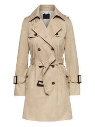 petite water resistant classic trench coat