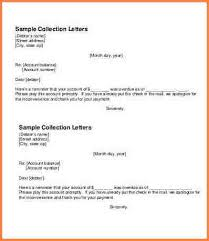 collection letter sample simple collection letter template