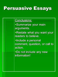 writing persuasive essays essential question how is a successful  6 persuasive essays conclusions