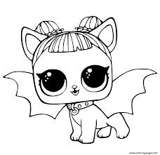 Lol Pets Coloring Pages Cute Midnight Pup With Devil Wings Coloring