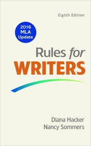 Current Mla Edition Rules For Writers With 2016 Mla Update Edition 8 By Diana Hacker
