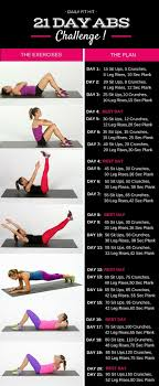 21 Day Plank Challenge Chart 21 Day Abs Challenge Health Hair And Beauty Workout