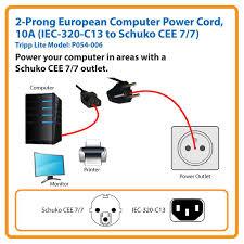 iec c wiring diagram iec image wiring diagram amazon com tripp lite 2 prong european computer power cord 10a on iec 320 c14 wiring