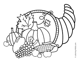 Thanksgiving Coloring Pictures Freel