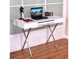 metal frame desk computer desk laptop table workstation metal frame wood top w keyboard tray metal