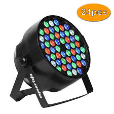 Eyourlife Dj Lights Eyourlife Led Stage Lights Led Dj Par Light Dmx 512 Stage Lighting Disco Projector For Home Wedding Party Church Concert Dance Floor Lighting 24pcs